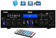Pyle Bluetooth Stereo Amplifier Receiver [Compact Home Theater Digital Audio #Pyle