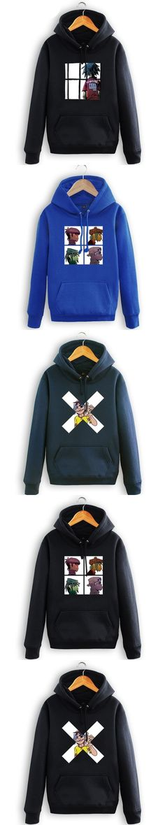 High quality Gorillaz Hoodies Rock Roll Band sweatshirt Free shipping Size S-3XL