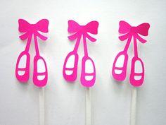 Bailarina cumpleaños Ballet zapatillas Cupcake por CraftyCue