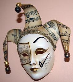 Venetian wall mask. Musical.