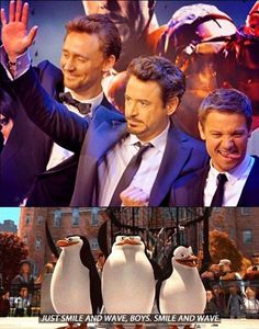 Just Tom, Robert and Jeremy Walking On The Red Carpet.