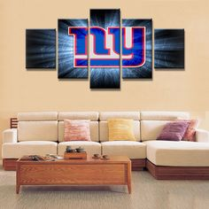 NY Giants Football 5pc Canvas 1  #america #pocketwatch #marines #tacticalgear #usa #free #police #assault #infidel #guns