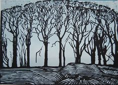 linocut by max angus