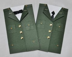 Military Dress Uniform Gift Card Holder Patriotic Mini by HRtistry