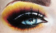 Makeup by Kassie K this is dangerously beautiful,looks like a fire ablazeeee