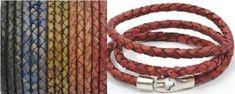 triple wrap leather braided bracelet * men women leather bracelet * braided leather bracelet * multi wrap bracelet *  matte finish bracelet by CozyDetailz on Etsy