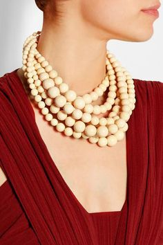 Rosantica | Spiaggia bone, resin and gold-tone necklace  | NET-A-PORTER.COM #jewelry #women #covetme