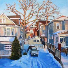 From My Studio Window - Anna Clarey Algonquin Park, Canadian Painters, Winter Art, Take Me Home, Art Pictures, Art Pics, Urban Landscape, Landscape Paintings, Design Art