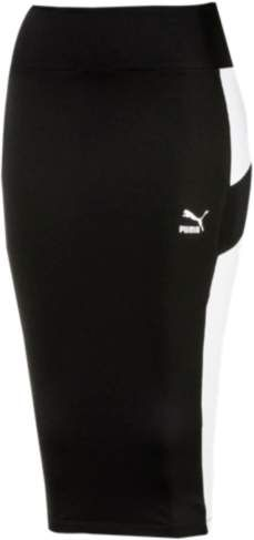 PUMA Archive Logo Pencil Skirt - Womens - Puma Black Athletic Skirts, Fitted Skirt, Dress Outfits, Dresses, Archive, Pencil, Sweatpants, Gym, Logo