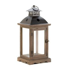 6 Rustic Wood Candle Lantern EXTRA LARGE Candleholder Wedding Centerpieces