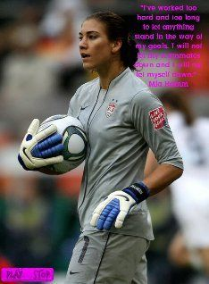 Run The World (The Takeover)- Hope Solo Motivation Series text, images, music, video Hope Solo, Soccer League, Women's World Cup, I Adore You, Team Usa, Goalkeeper, I Am Game, Female Athletes, Sports Women