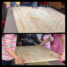 "Collaborative marble mazes fun in Mrs. Myers' class ("",)"