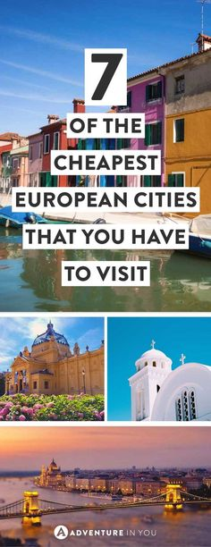 Cheapest European Cities | Looking for affordable destinations in Europe that wont break the bank? Here are our top picks for cities including a daily budget for them.