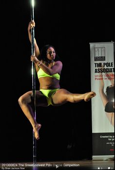 a Mika Yoga Wear Fashion show at the The Great Midwest Pole Dance Competition. Photography by Brian Jackson Now.  Wearing Lime Light sparkled Tula top, and lime light meeko shorts