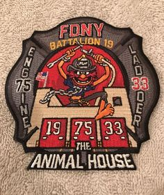 New York City Fire Patch Engine 75 Ladder 33 FDNY BRONX
