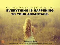 #abrahamhicks #you #advantage