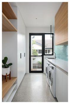Modern Laundry Rooms, Laundry Room Layouts, Laundry Room Remodel, Laundry Room Organization, Laundry In Bathroom, Outdoor Laundry Rooms, Laundry Nook, Laundry Storage, Laundry Basket