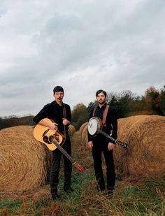 The Avett Brothers, Seth and Scott, on their family farm in Concord, North Carolina.    Photo by David McClister
