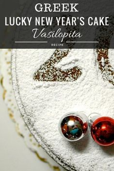 Make your own delicious lucky Greek New Year's Eve Cake called Vasilopita. Try this traditional and easy vasilopita recipe and get all info on the lucky coin and how you are supposed to cut it. New Year's Desserts, Greek Desserts, Greek Recipes, Yummy Recipes, Greek Sweets, Healthy Recipes, Healthy Eats, Vasilopita Cake, Recipes