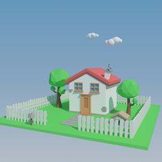 3D Model Low Poly House | Architecture 3D Models | sprinter880 - 3D Squirrel