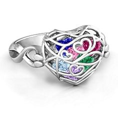 Encased in Love Caged Hearts Ring with Infinity Band #jewlr