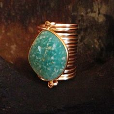 Kami Lerner - Large Crysophase Wire Wrap Ring