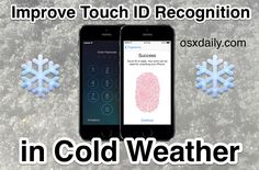 Improve Touch ID Recognition in Cold Weather