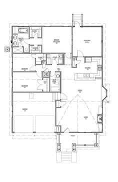Plan 536-8  don't like master bedroom beside kid's rooms. has most everything else. office space??
