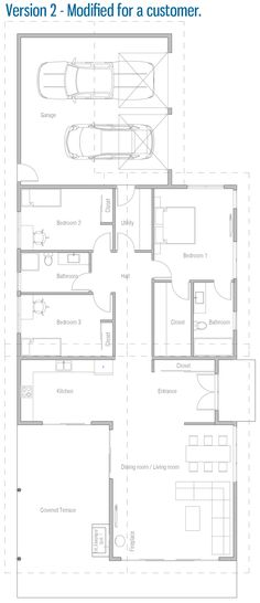Home Plan, Customer Home Plan House Layout Plans, New House Plans, Small House Plans, House Layouts, House Floor Plans, Modular Home Plans, Modular Homes, Minimalist Architecture, Architecture Design