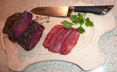 Selbst gemachter Rinderschinken Rind, Steak, Grilling, Beef, Homemade, Cold Cuts, Smoked Ham, Chef Recipes, Food Food