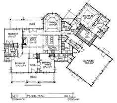 Check out the first floor of conceptual house plan 1477.