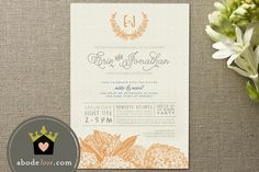 abode love: a man's home is his wife's castle - #invitation #wedding #shower