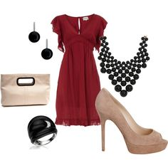 """""""dressy red"""" by staceedawn on Polyvore"""