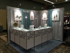 Vickie Hallmark jewelry design booth at the 2014 American Craft Council Baltimore show.
