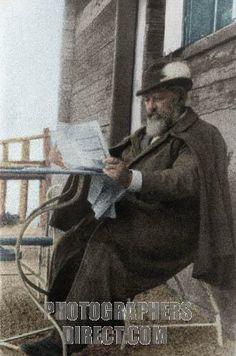 BRAHMS , Johannes portrait in Salzkammergut , 1890 German composer ( 1833 1897 ) . Colourised version . stock photo