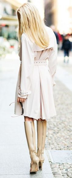 #street #style fall / trench coat + all-leather