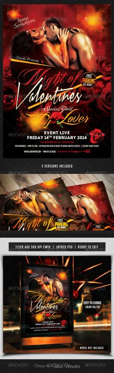 Night of Valentines Flyer Template