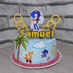 Bolo do sonic redondo Sonic Birthday Parties, Sonic Party, 10th Birthday, Birthday Cake, Bolo Sonic, Sonic Cake, Star Wars Party, Cakes For Boys, Buttercream Cake