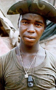 A US soldier after a 6-day patrol in the Da Nang region of Vietnam, 1968.