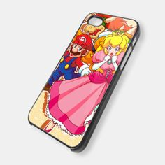 MARIO AND PRINCESS PEACH for iPhone 4/4s/5/5s/5c, Samsung Galaxy s3/s4 case