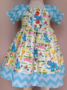 Noah's Animals Dress....Made by levonadanielle on etsy!