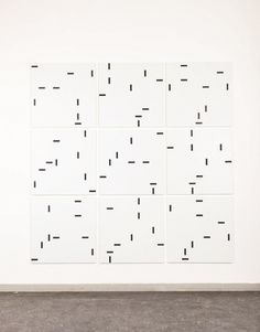 Ido Vunderink (8=1) x (8+1) = 81 - Simple Arithmetic for Robert Smithson,2012/13 oil on linen, 9parts, each 81 x 81cm