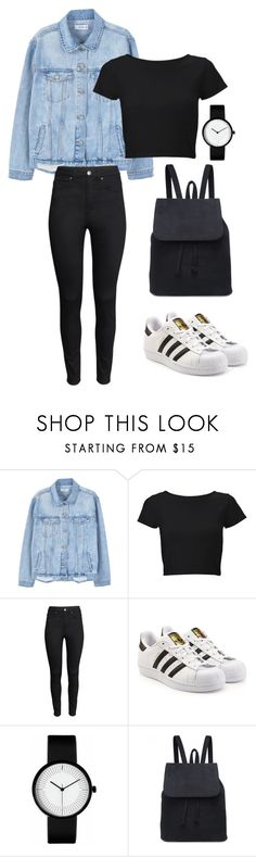 """casuhope"" by joannachavez8 on Polyvore featuring MANGO, Lipsy, H&M and adidas Originals"