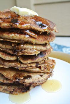 Pancake Fridays: Whole Wheat Pear and Chocolate Pancakes