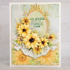 Heartfelt Creations Cards, Birthday Sentiments, Card Making Tutorials, Distressed Painting, Flower Shape, Floral Bouquets, Small Flowers, Flower Cards, Flower Making