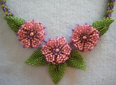 Floral Memory beaded flowers by Jacquelyn Sciesczka