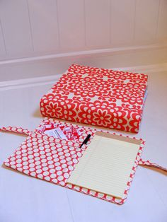 3-ring binder cover. Make one for each kid for school work & extras to keep in truck for traveling.