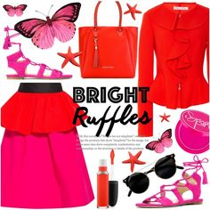 How To Wear Bright Summer Ruffles Outfit Idea 2017 - Fashion Trends Ready To Wear For Plus Size, Curvy Women Over 20, 30, 40, 50