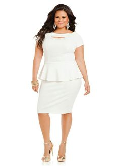 3cf1a729f38 Ashley Stewart Modest White Dress