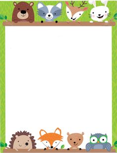 Risultati immagini per woodland border Woodland Animals Theme, Woodland Creatures, Forest Animals, Forest Classroom, Woodland Christmas, Preschool Themes, Camping Theme, Woodland Party, Writing Paper
